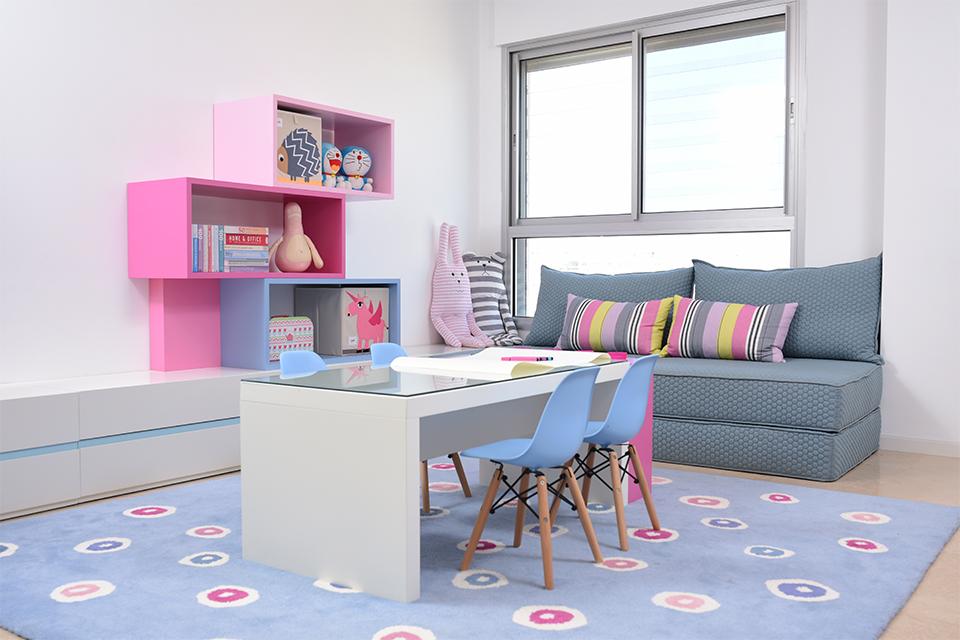 חדר יצירה צבעוני לילדים