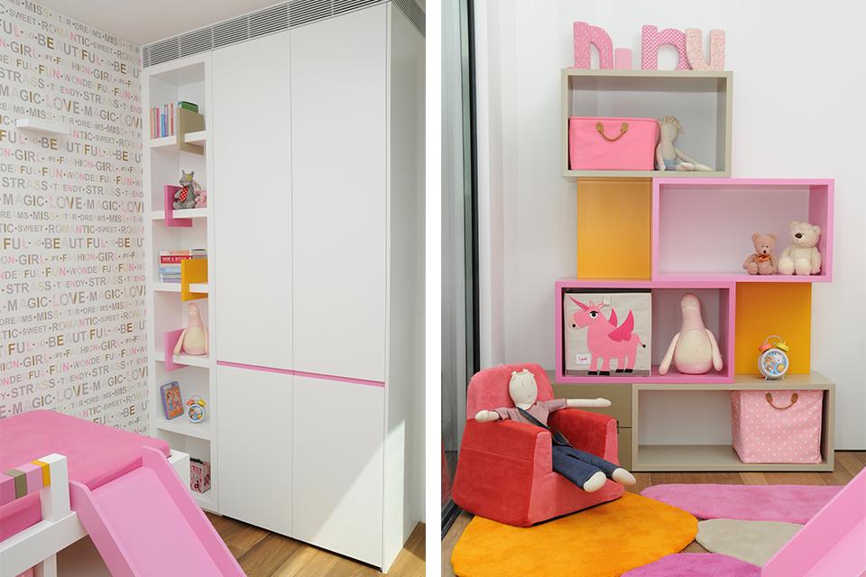 ספריות אחסון צבעוניות לחדרי ילדים