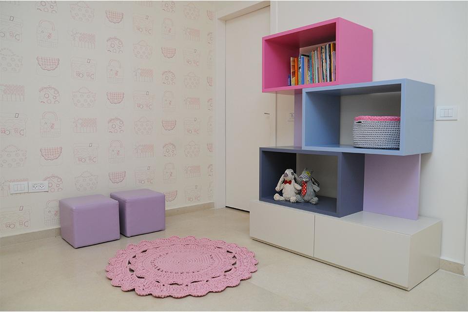 ספרייה צבעונית לחדרי ילדים