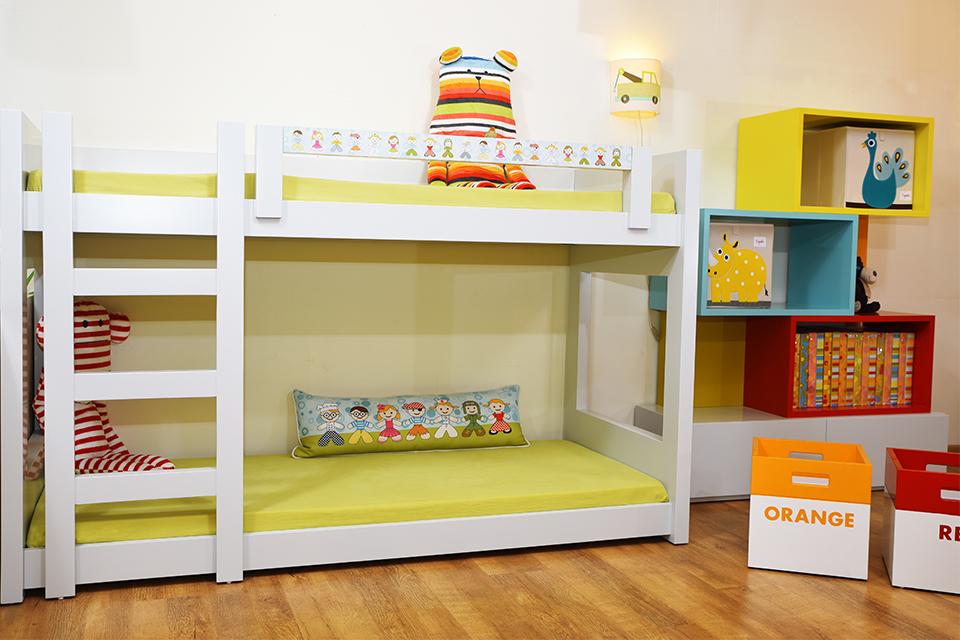 מיטת קומותיים לחדר ילדים קטן