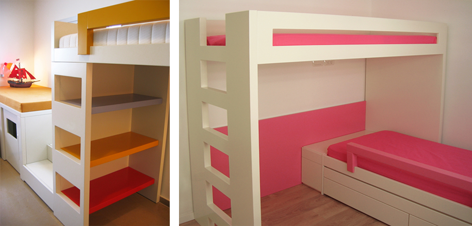 מיטת קומותיים עם אחסון