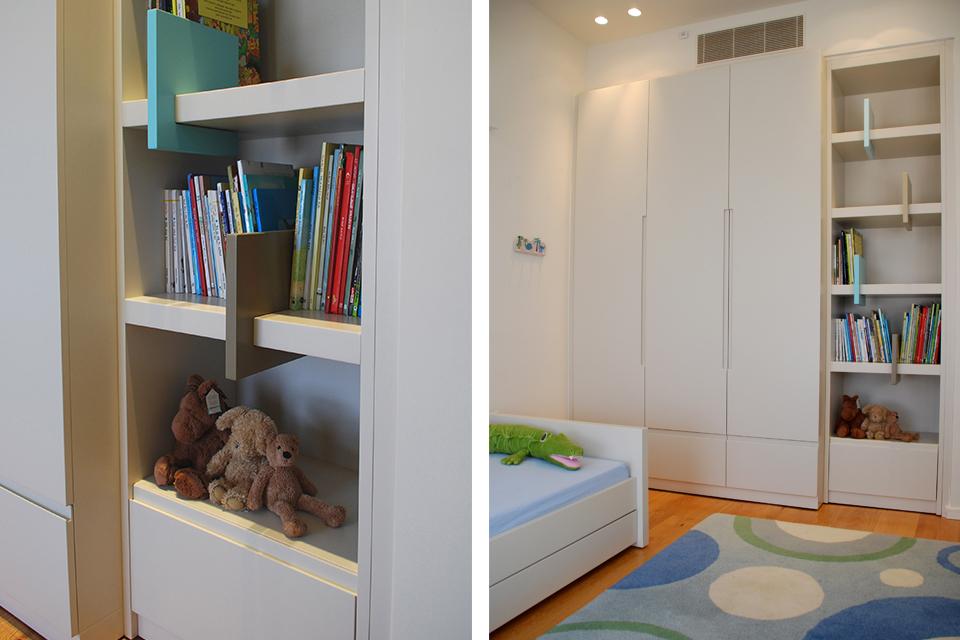 ארון וספריה לחדר בן