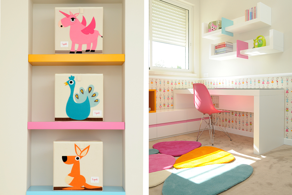 מדפים לחדרי ילדים ונוער