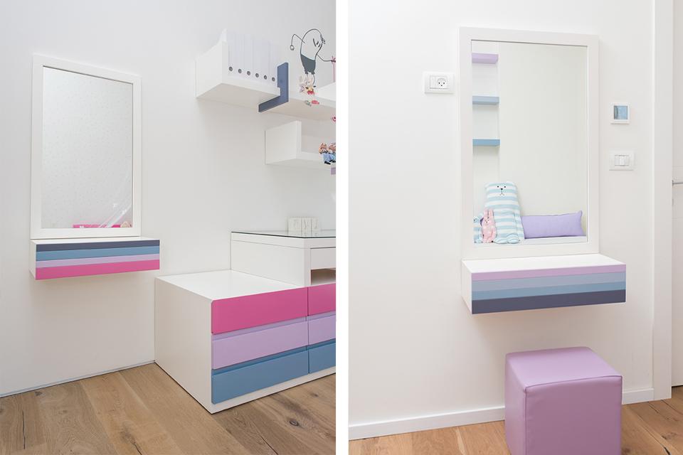 מראה צבעונית בחדר ילדים ונוער