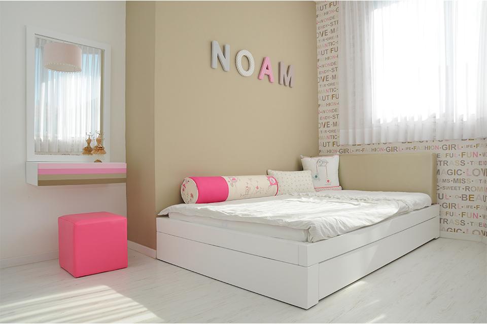 חדר לנערה בעיצוב אישי