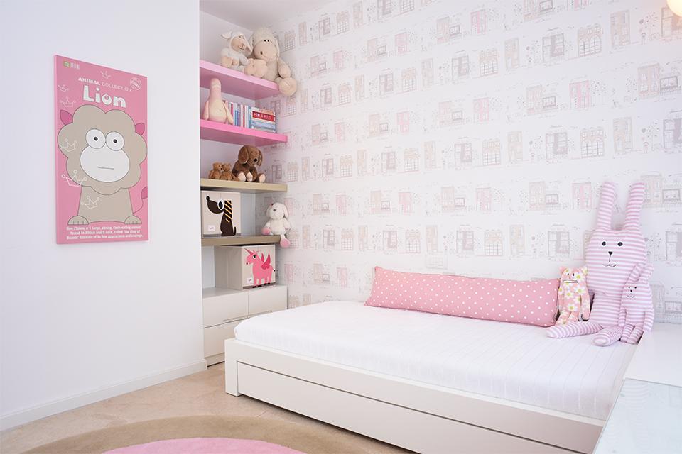 חדר לבת בגווני ורוד