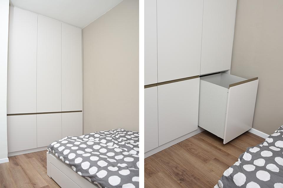 ארון לחדרי ילדים עם מגירה לכביסה