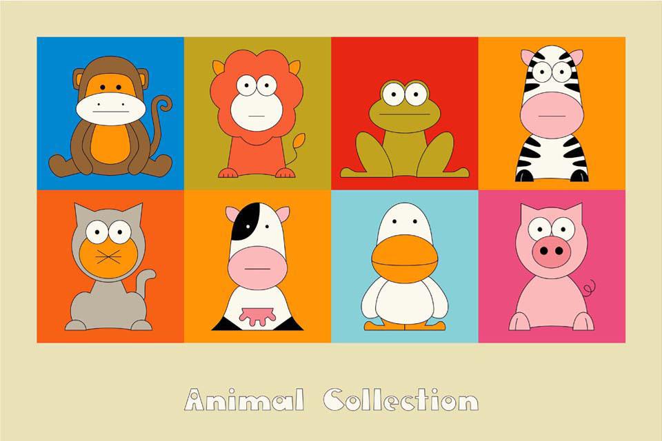 תמונות של חיות לחדר ילדים ונוער