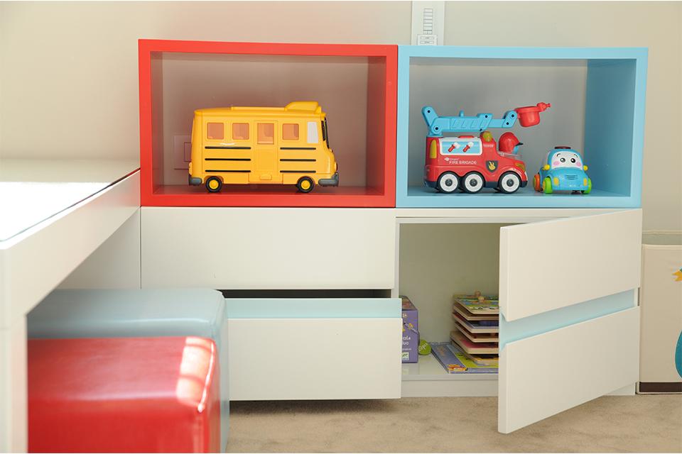 קוביות אחסון צבעוניות לחדרי ילדים