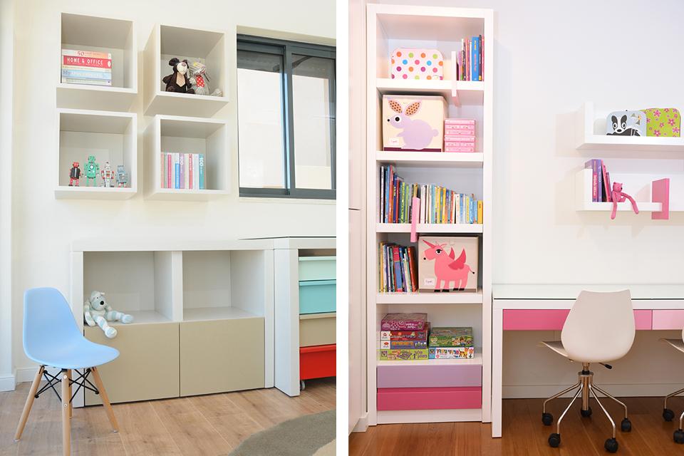 פתרונות אחסון מעוצבים לחדרי ילדים ונוער
