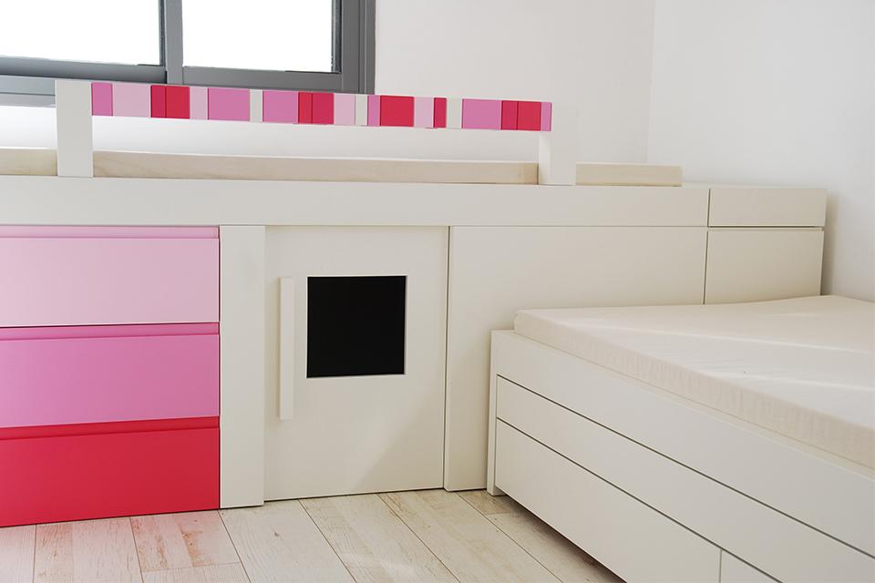מיטות לשניים בחדר ילדים