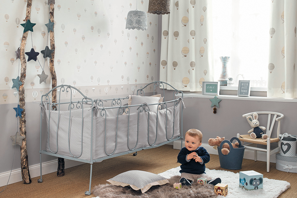 טפט מעוצב לחדר תינוק