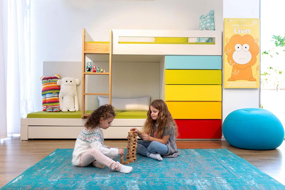 מיטת קומתיים מעוצבת לחדר ילדים