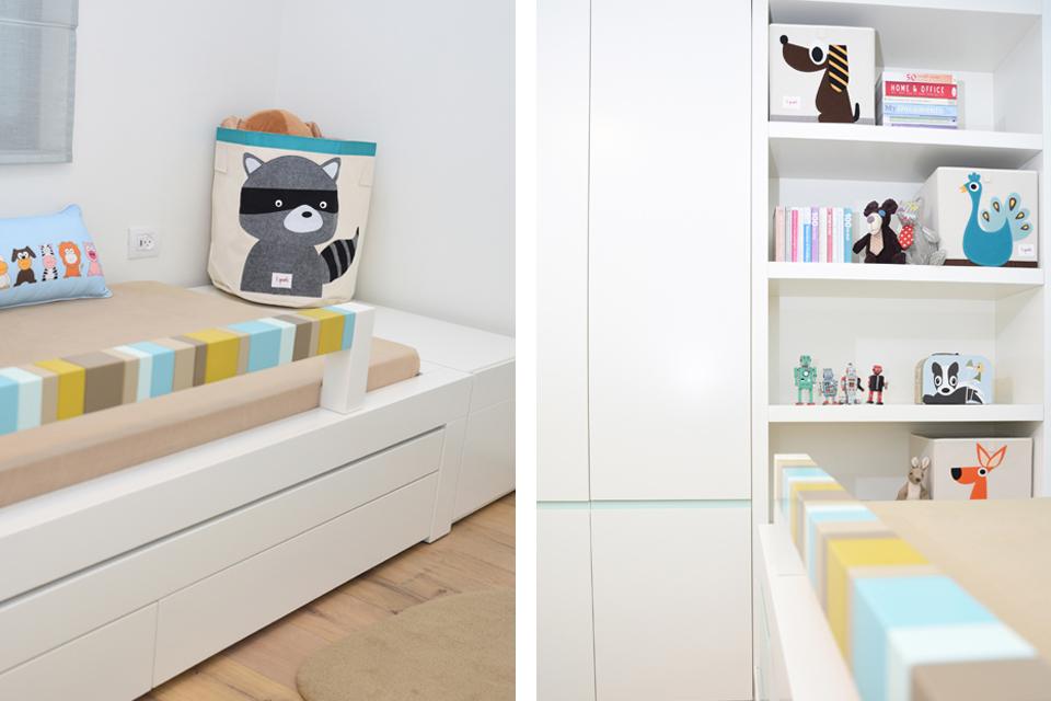 סל אחסון מעוצב לחדר ילדים ונוער