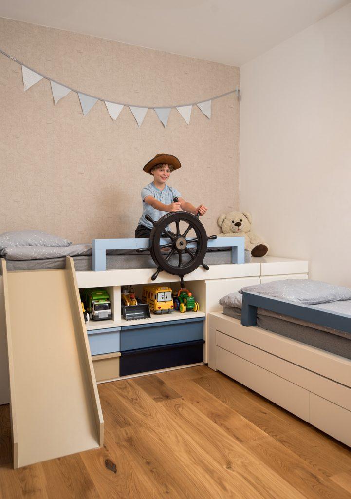 חדר ילדים בסגנון ים