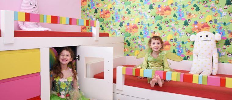 חדר צבעוני לבנות שמחות