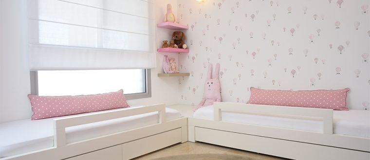 חדר תאומות – חלום מתוק ורוד